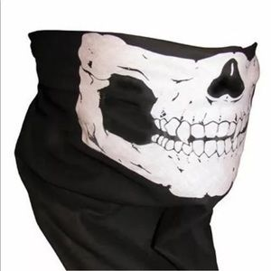 Skull skeleton biker gaiter scarf mask 1 size NEW